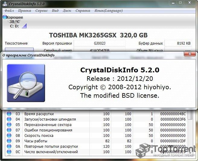CRYSTALDISKINFO 6 5 2 RUS СКАЧАТЬ БЕСПЛАТНО