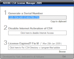 Adobe CS4 License Manager